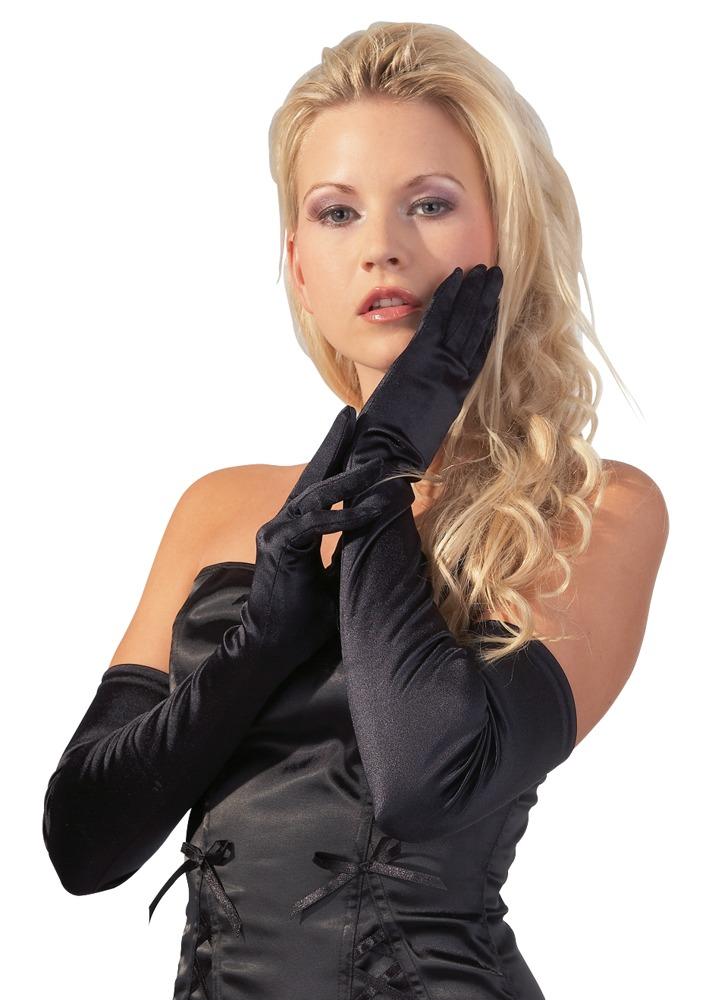 Černé rukavice (velikost S/L)
