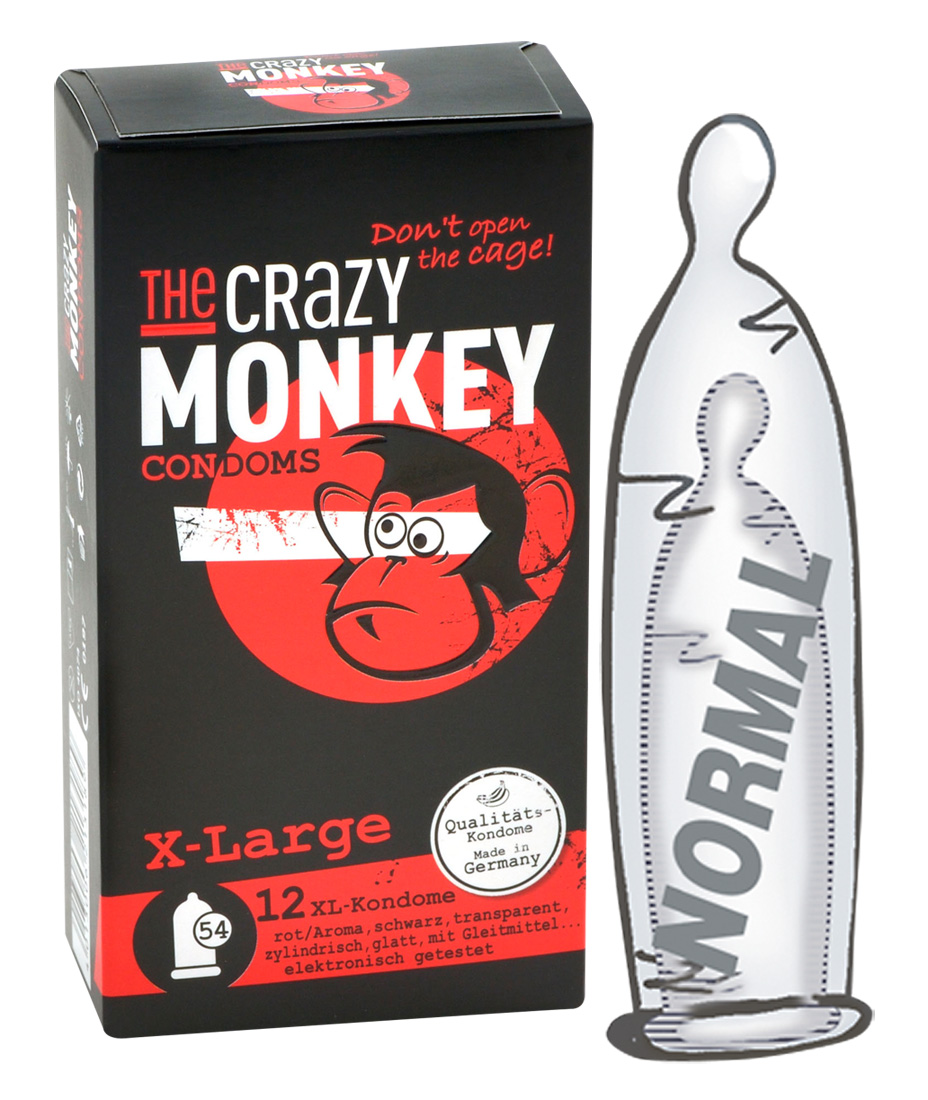 XXL kondomy The Crazy Monkey X-Large (12 ks)