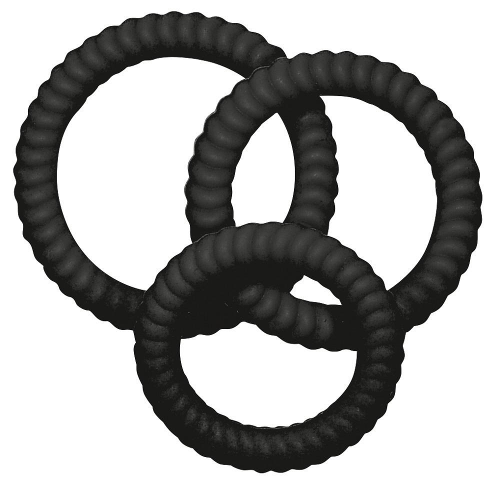 Erekční kroužky Lust 3 black
