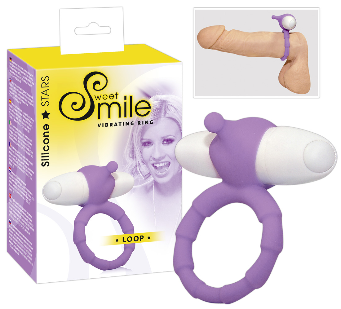 Vibrační kroužek Smile loop fialový