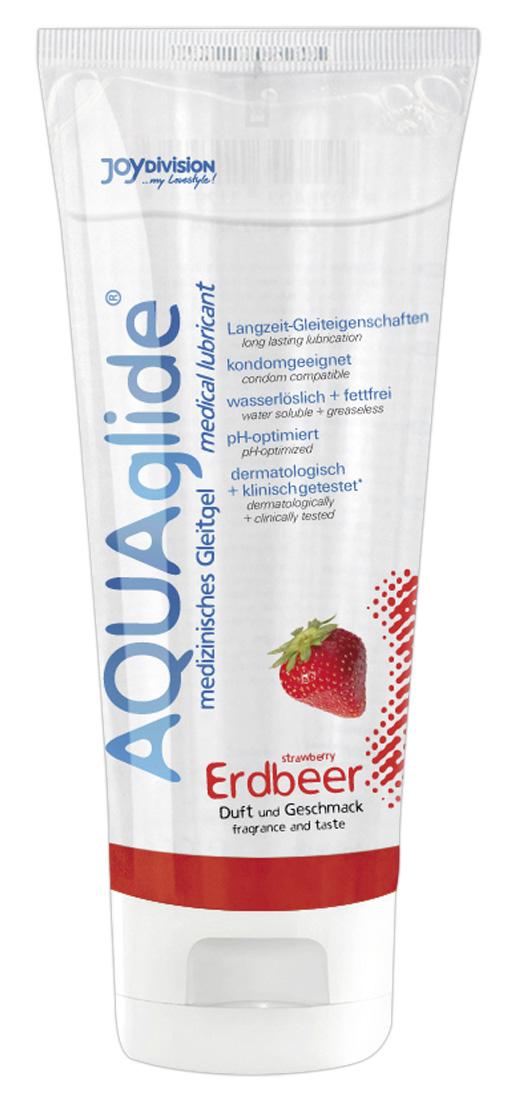 Jahodový lubrikační gel AQUAglide (100 ml)