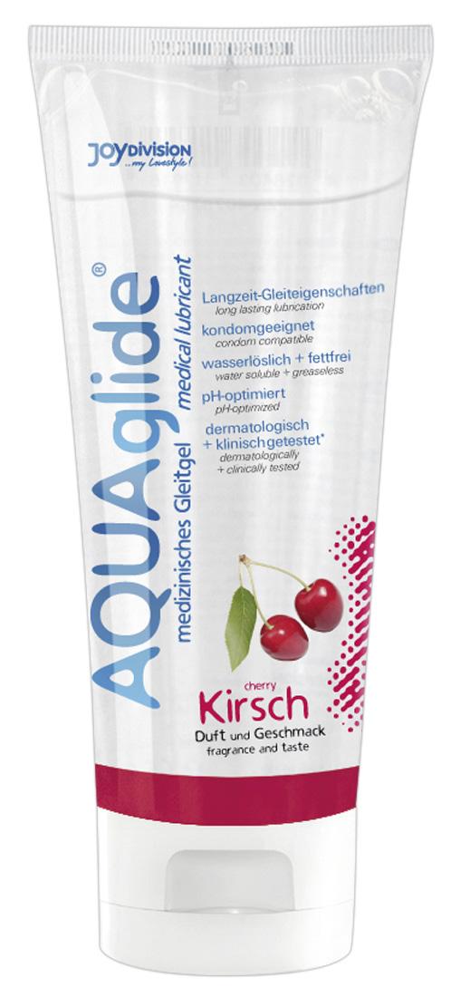 Třešňový lubrikační gel AQUAglide (100 ml)