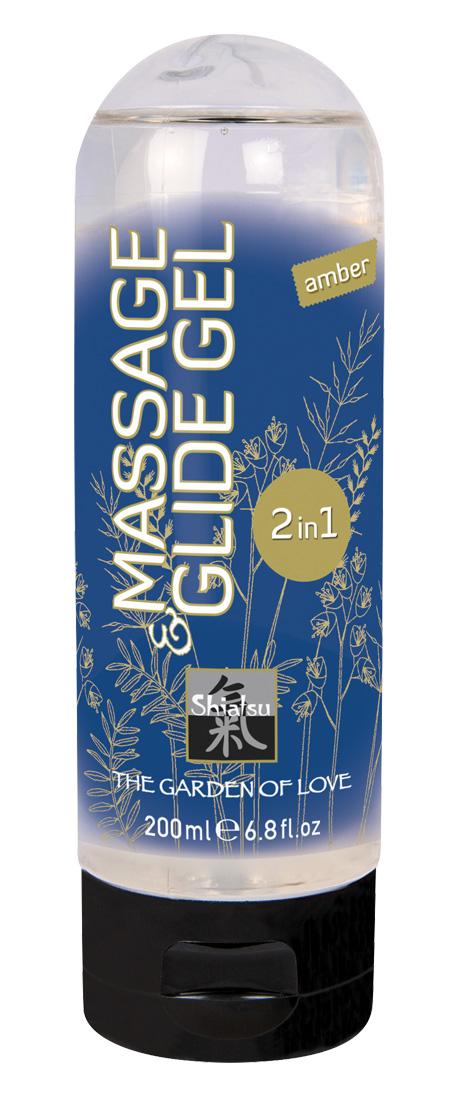 Masážní a lubrikační gel Shiatsu Amber (200 ml)