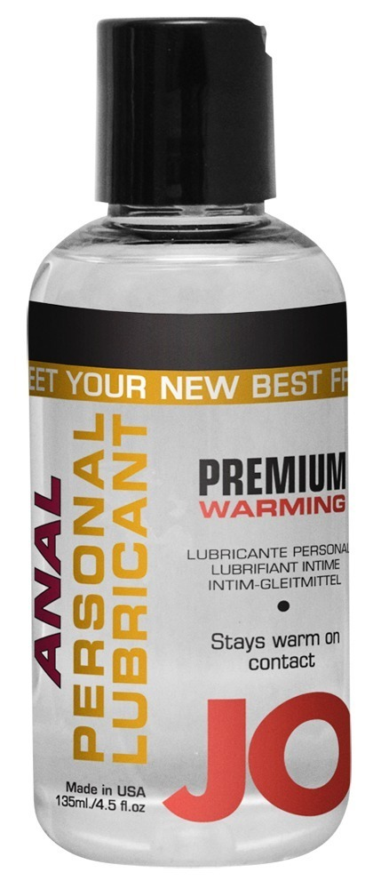 Anální hřejivý lubrikant Premium Warm JO (135 ml)