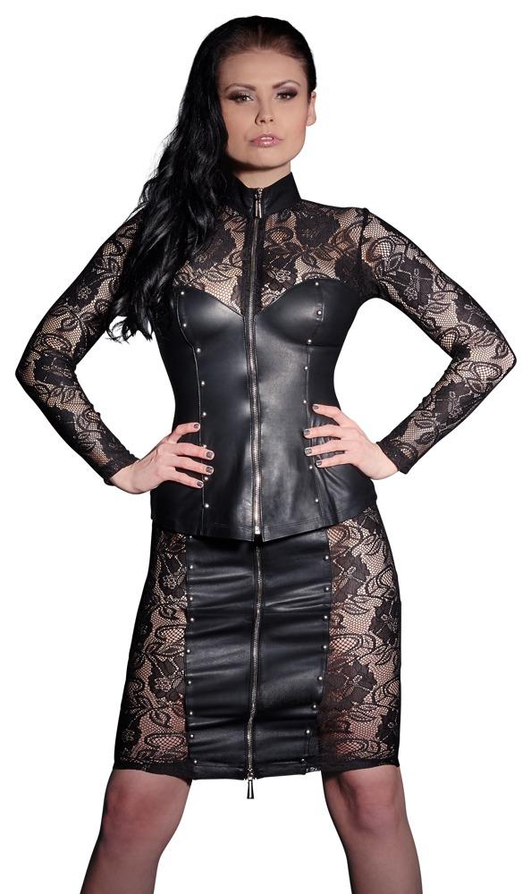Kožená sukně (velikost S)