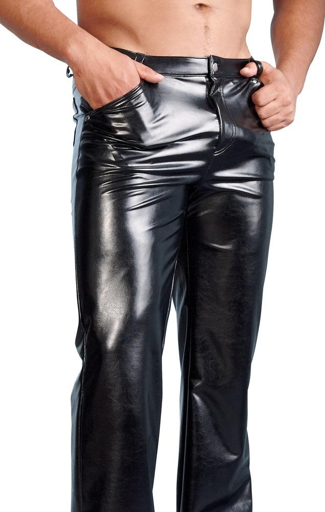 Pánské kožené kalhoty z imitace kůže (velikost S)
