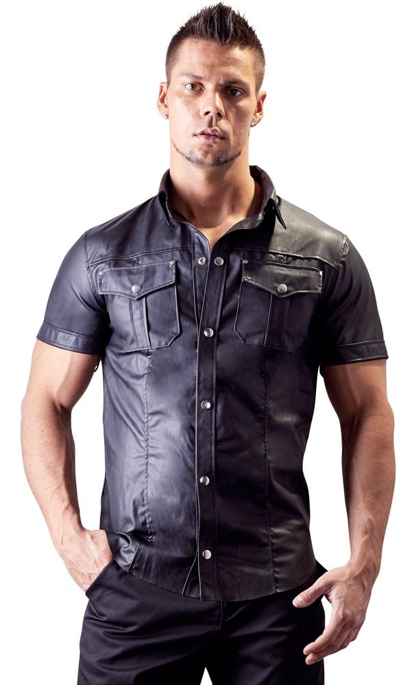 Pánské tričko z umělé kůže (velikost M)