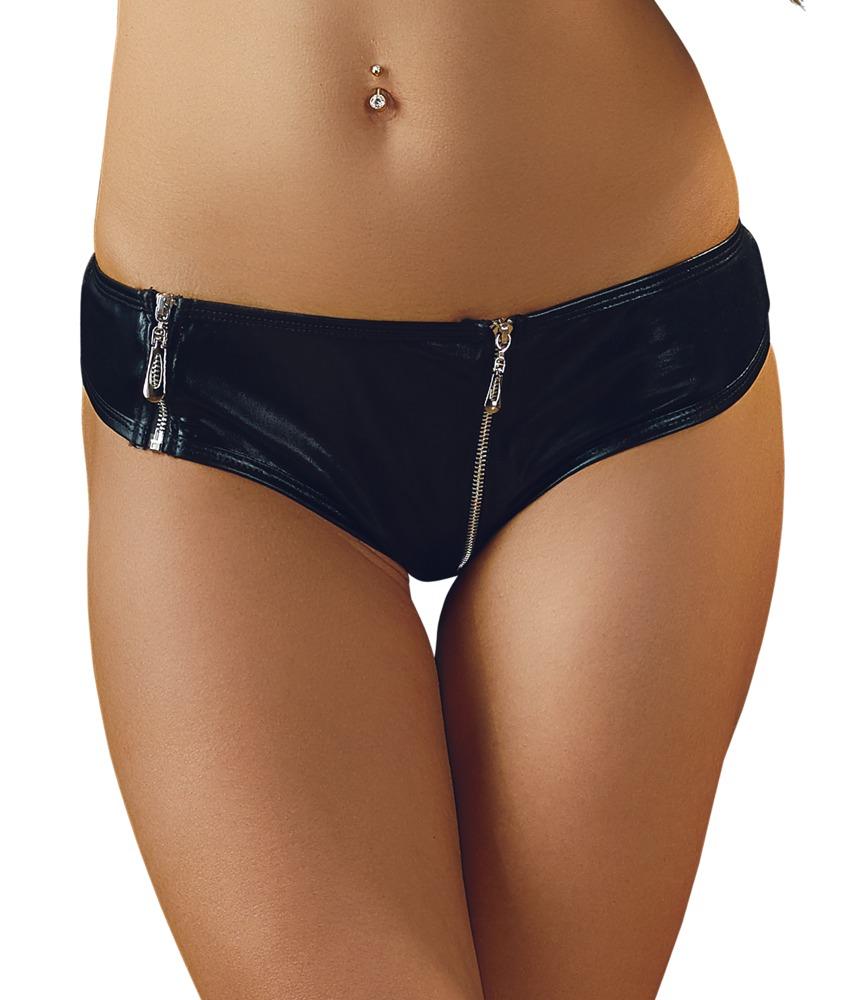 Černé lesklé kalhotky (velikost S)