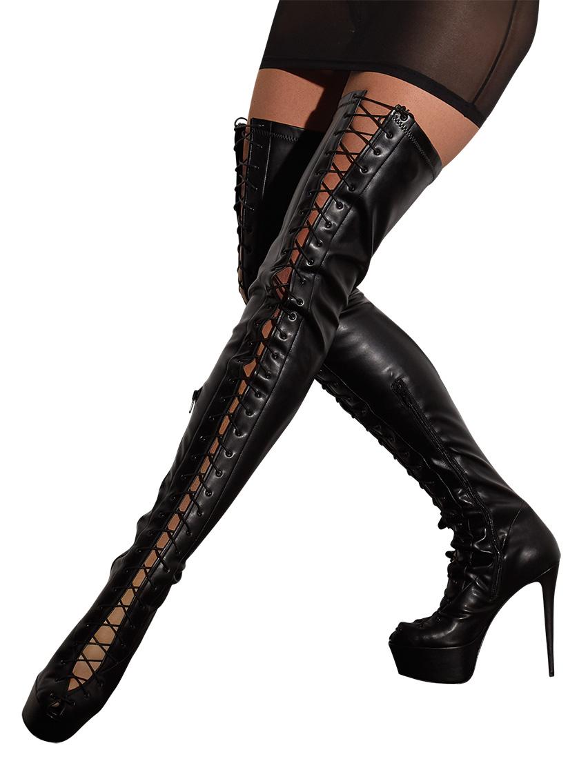 Vysoké šněrovací boty (velikost 37)