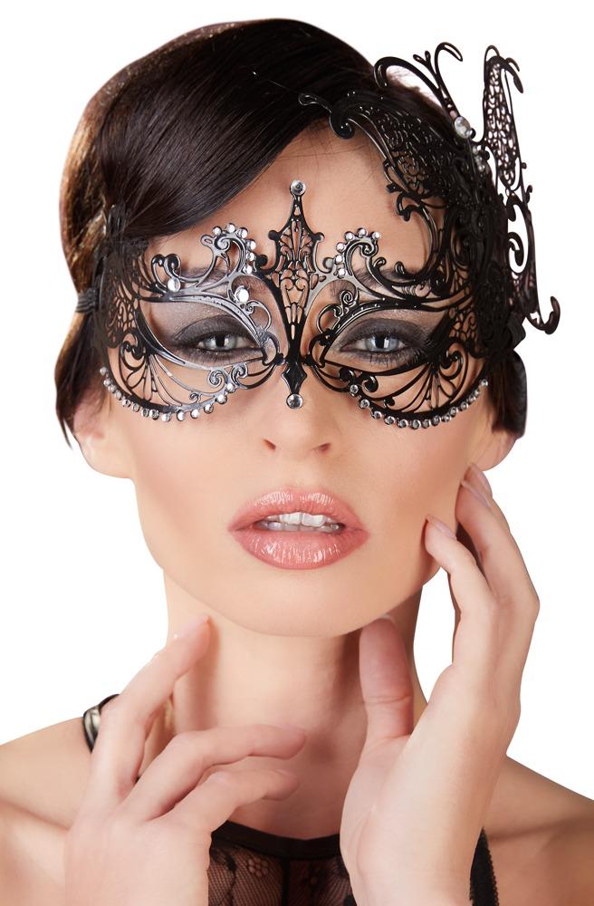 Kovová maska Glitter