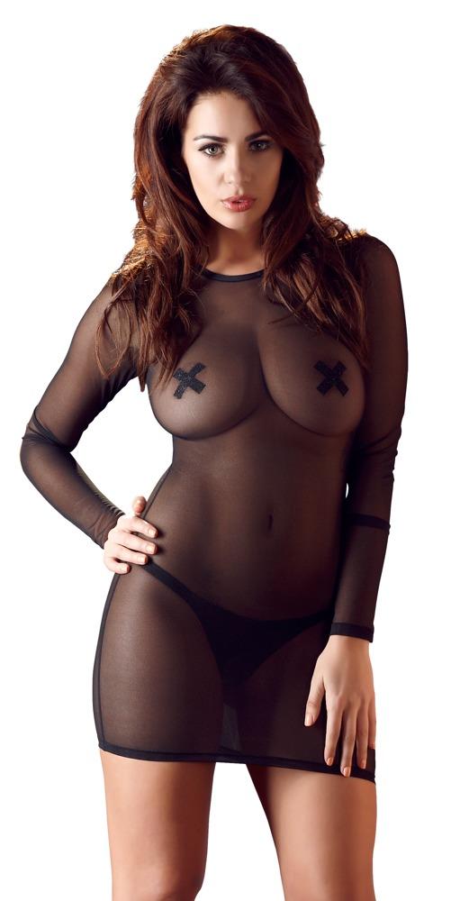 Jednoduché černé šaty (velikost S)