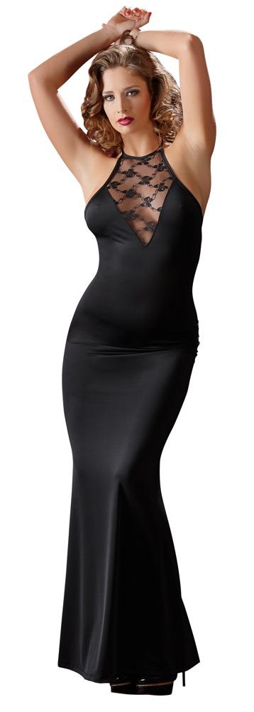 Dlouhé krajkové šaty (velikost S)