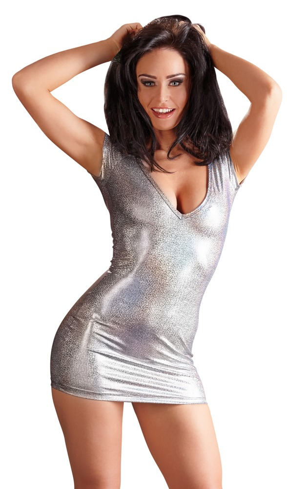 Stříbrné šaty (velikost L)