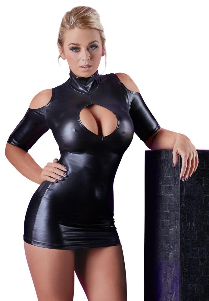Sexy šaty s výkrojem na ramenou (velikost S)
