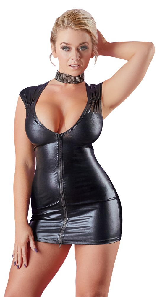 Šaty z lesklého materiálu (velikost S)