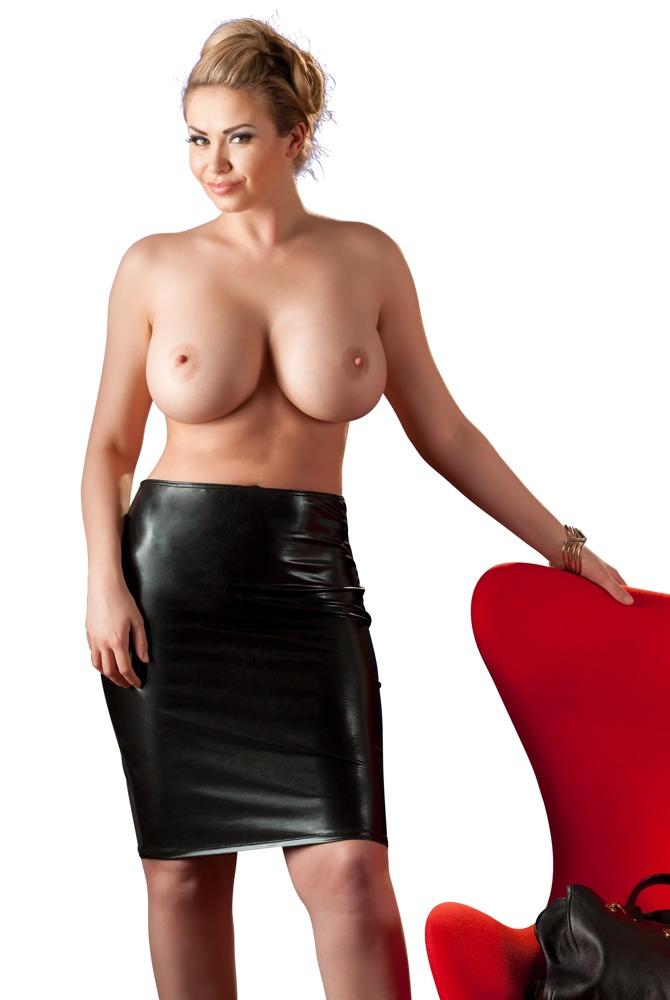 Sukně s mokrým vzhledem (velikost XL)
