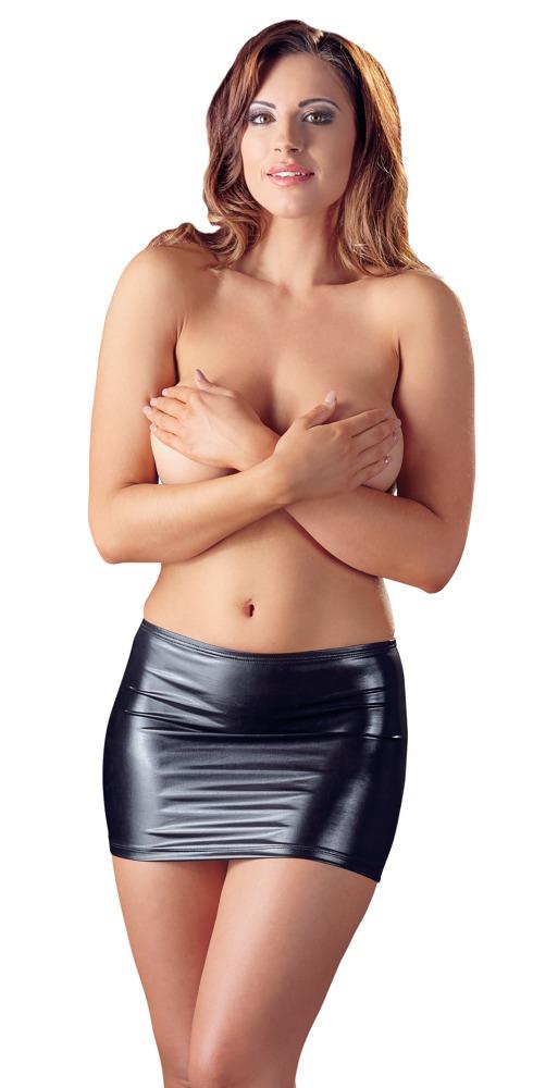 Černá mini sukně (velikost XS)