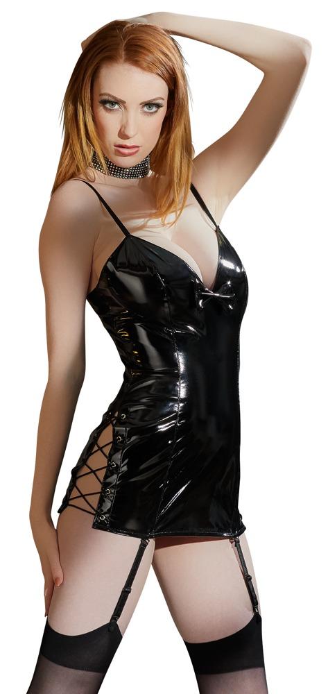 Vinylové mini šaty (velikost M)