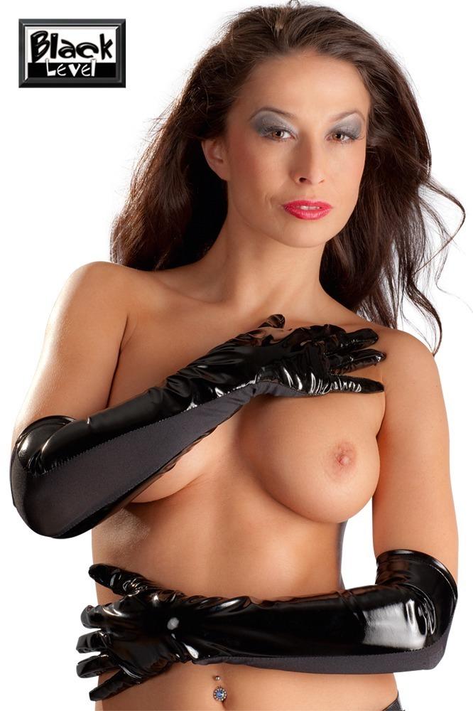 Lesklé rukavice (velikost M)