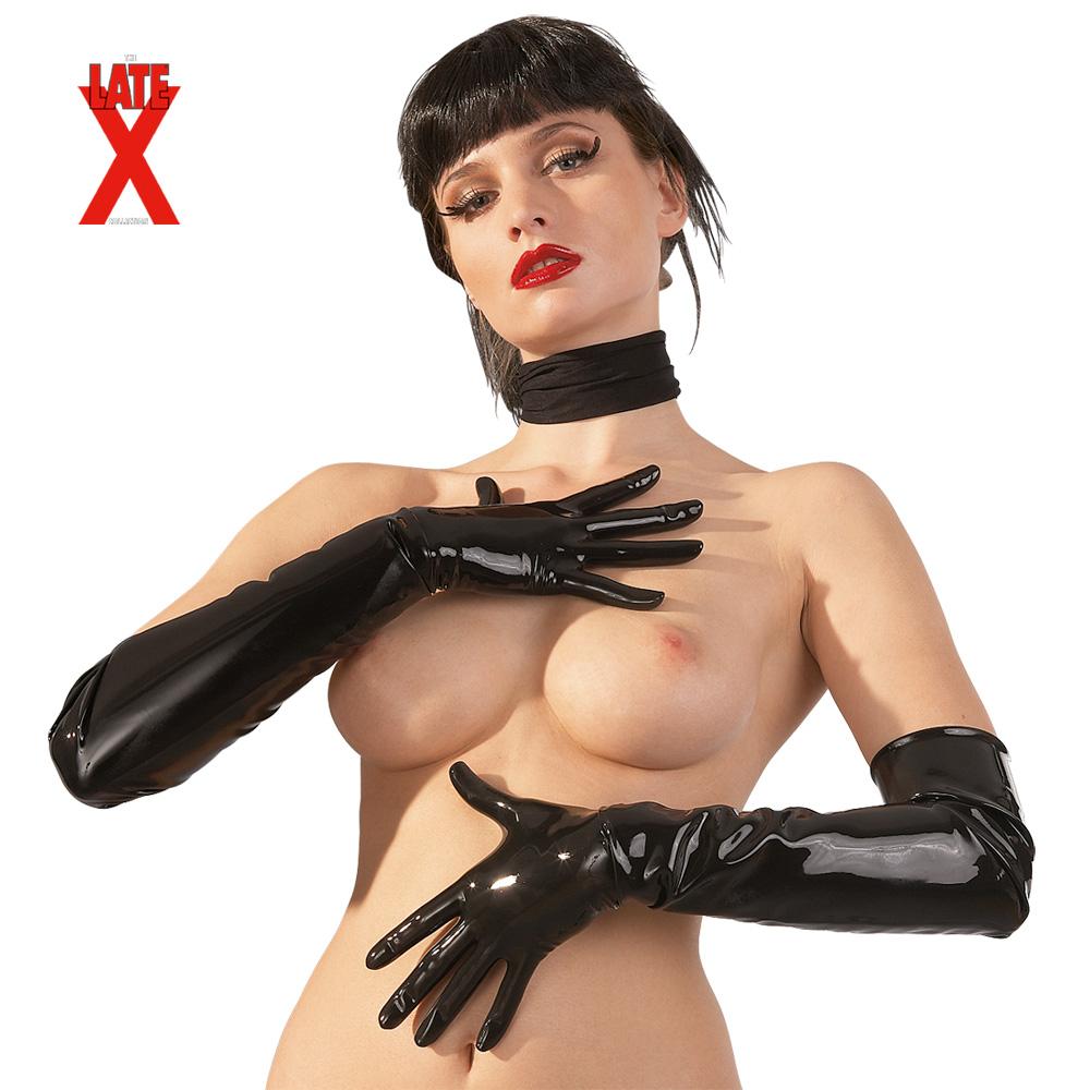 Dlouhé latexové rukavice (velikost XL)