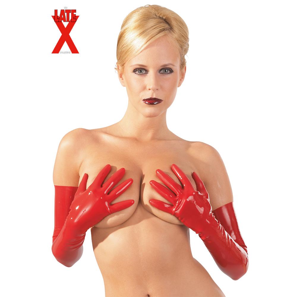 Dlouhé latexové rukavice (velikost S)
