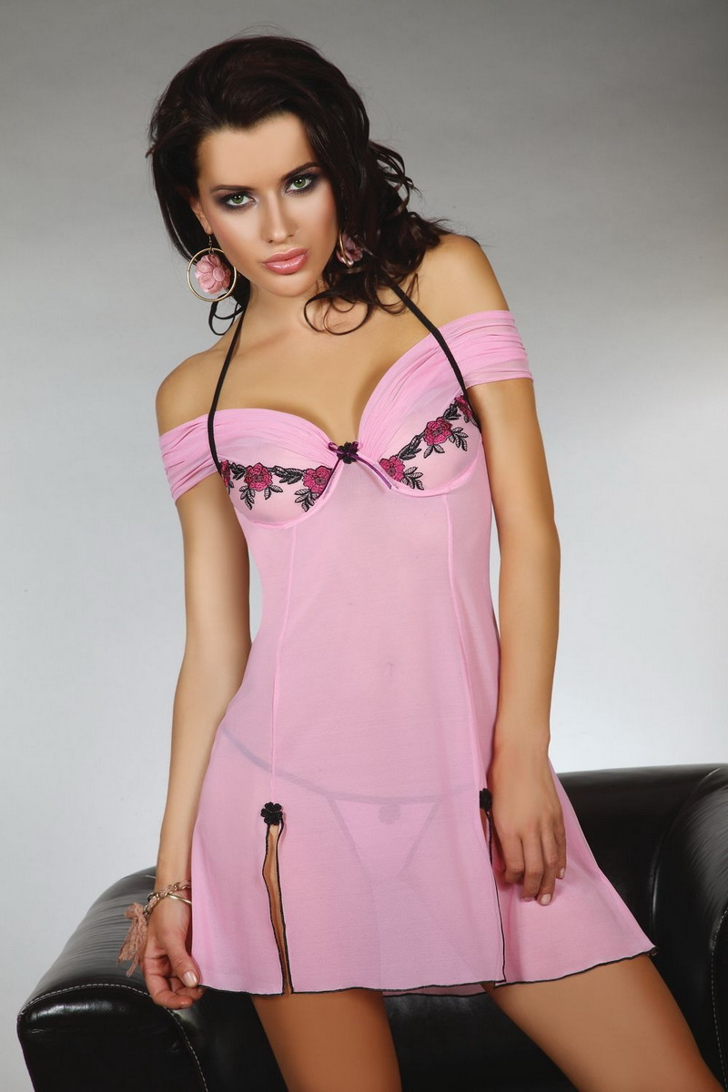 Košilka LivCo Corsetti Chameli růžová (velikost XL)