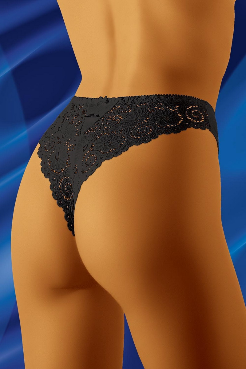 Tanga kalhotky Wolbar Bolero černé (velikost M)
