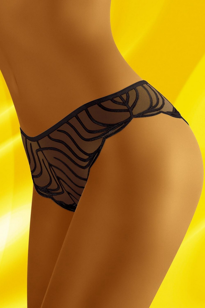 Tanga kalhotky Wolbar Soleare černé (velikost S)