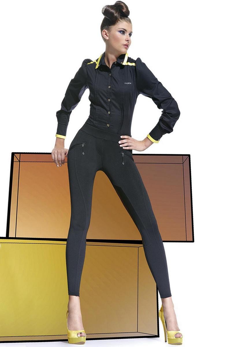Dámské legíny BasBleu Karen černé (velikost L)