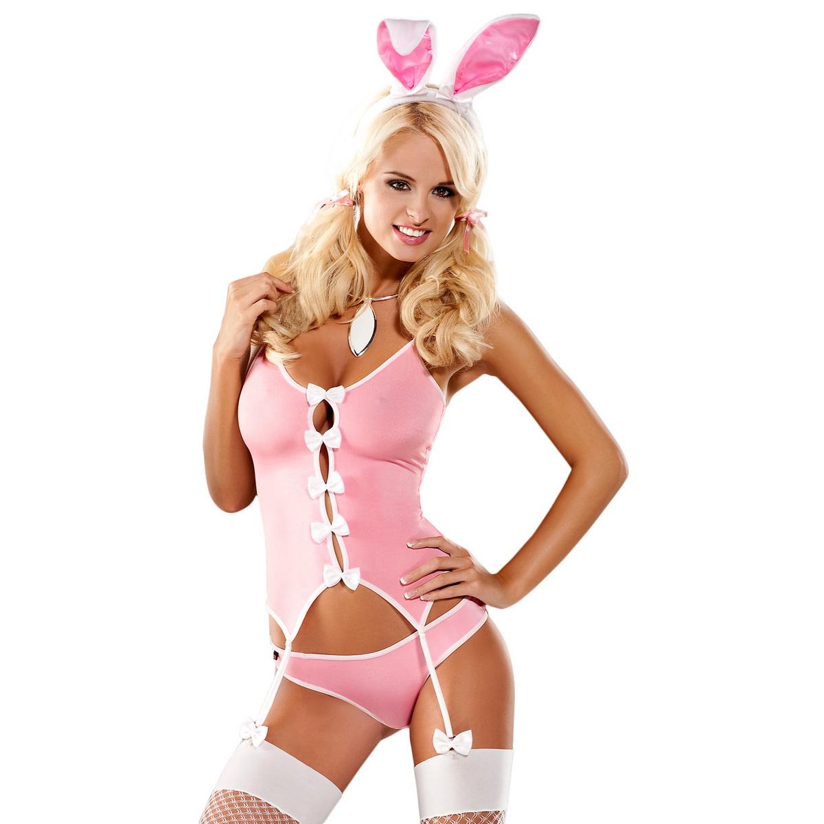 Sexy kostým Obsessive Bunny suit růžový (velikost XXL)