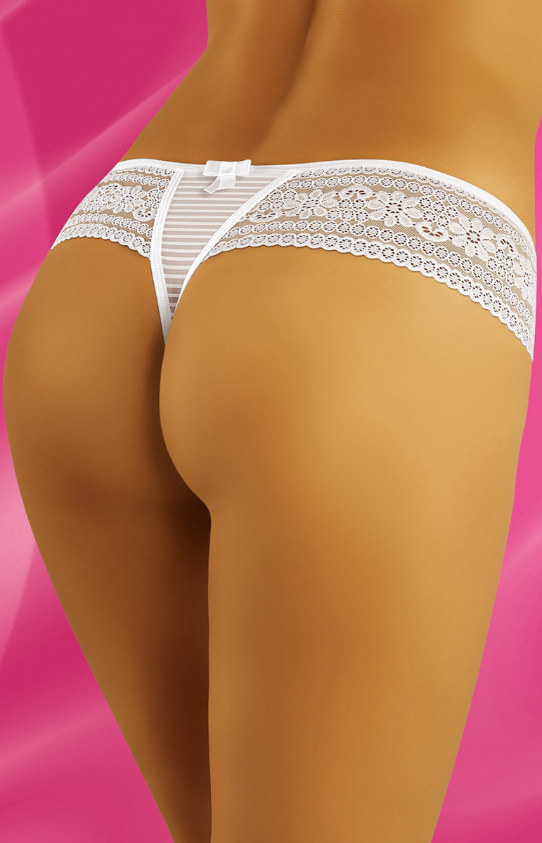 Tanga kalhotky Wolbar Forlana bílé (velikost S)
