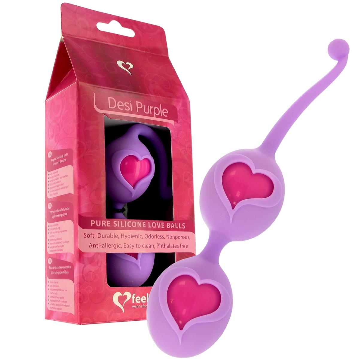Venušiny kuličky Feelz Toys Desi fialové