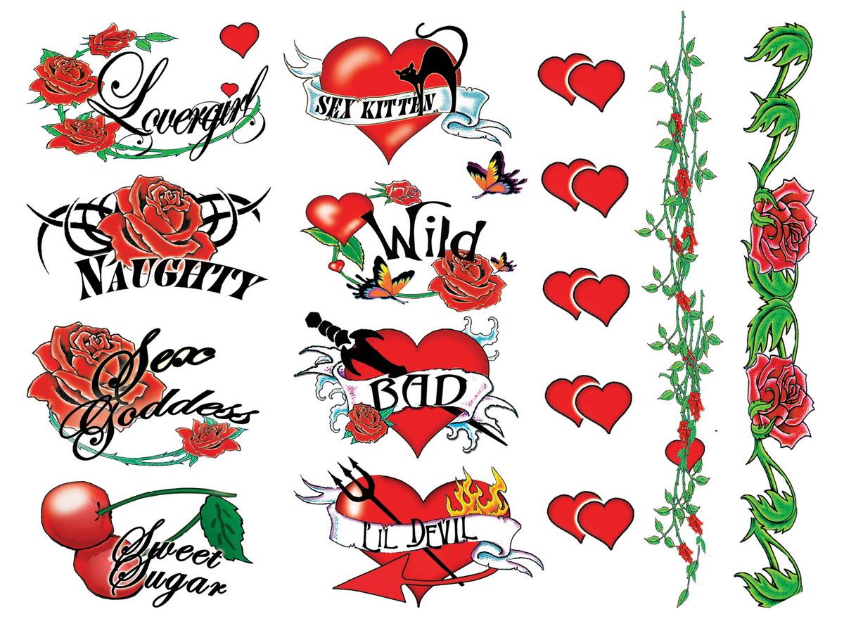 Tattoo souprava - Naughty Bachelorette