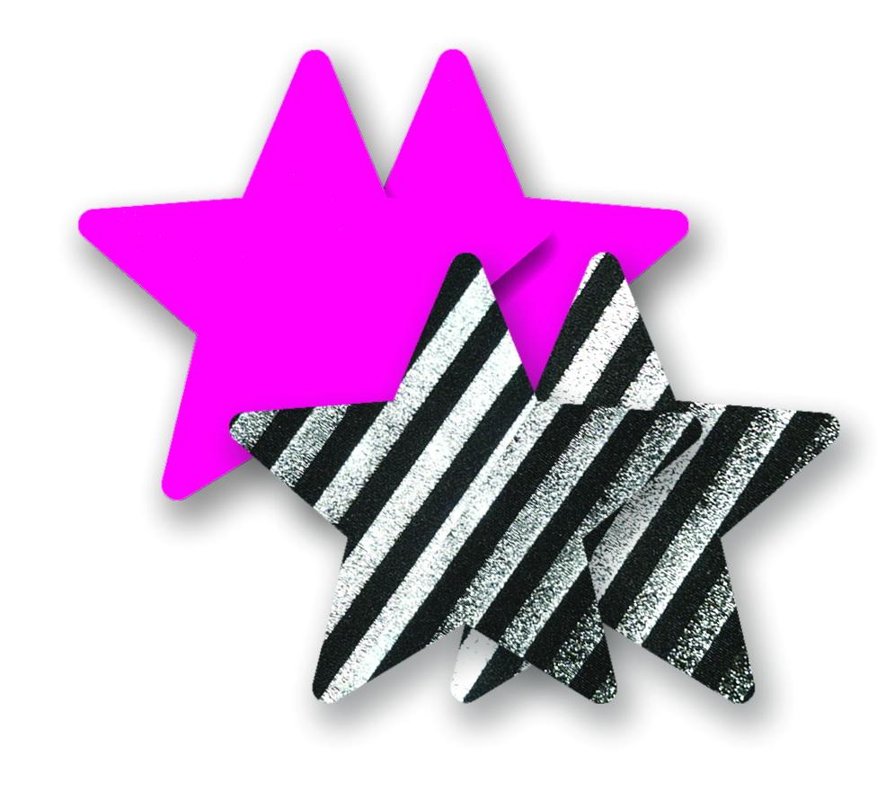 Ozdoby na bradavky - barevné hvězdičky
