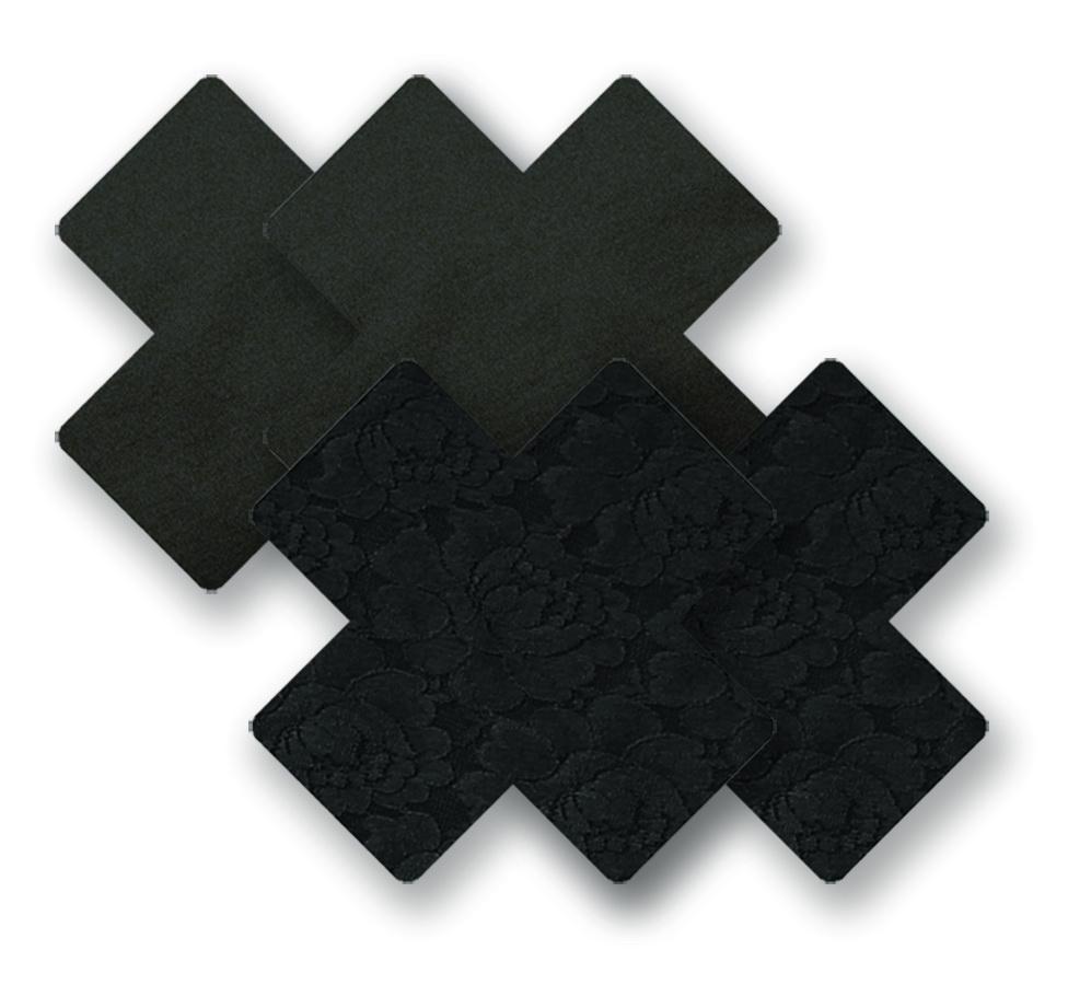 Ozdoby na bradavky - černé křížky