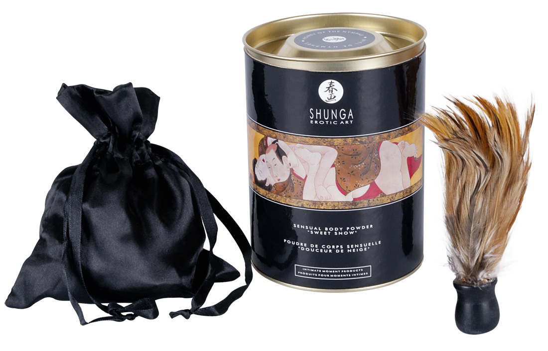 Hebký tělový pudr Honey of the Nymphs Shunga (228 g)