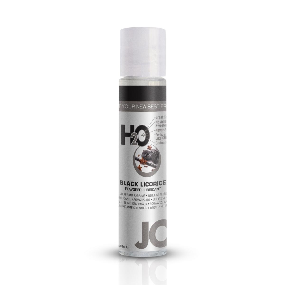 System JO - H2O Lubrikant s příchutí černé lékořice (30 ml)