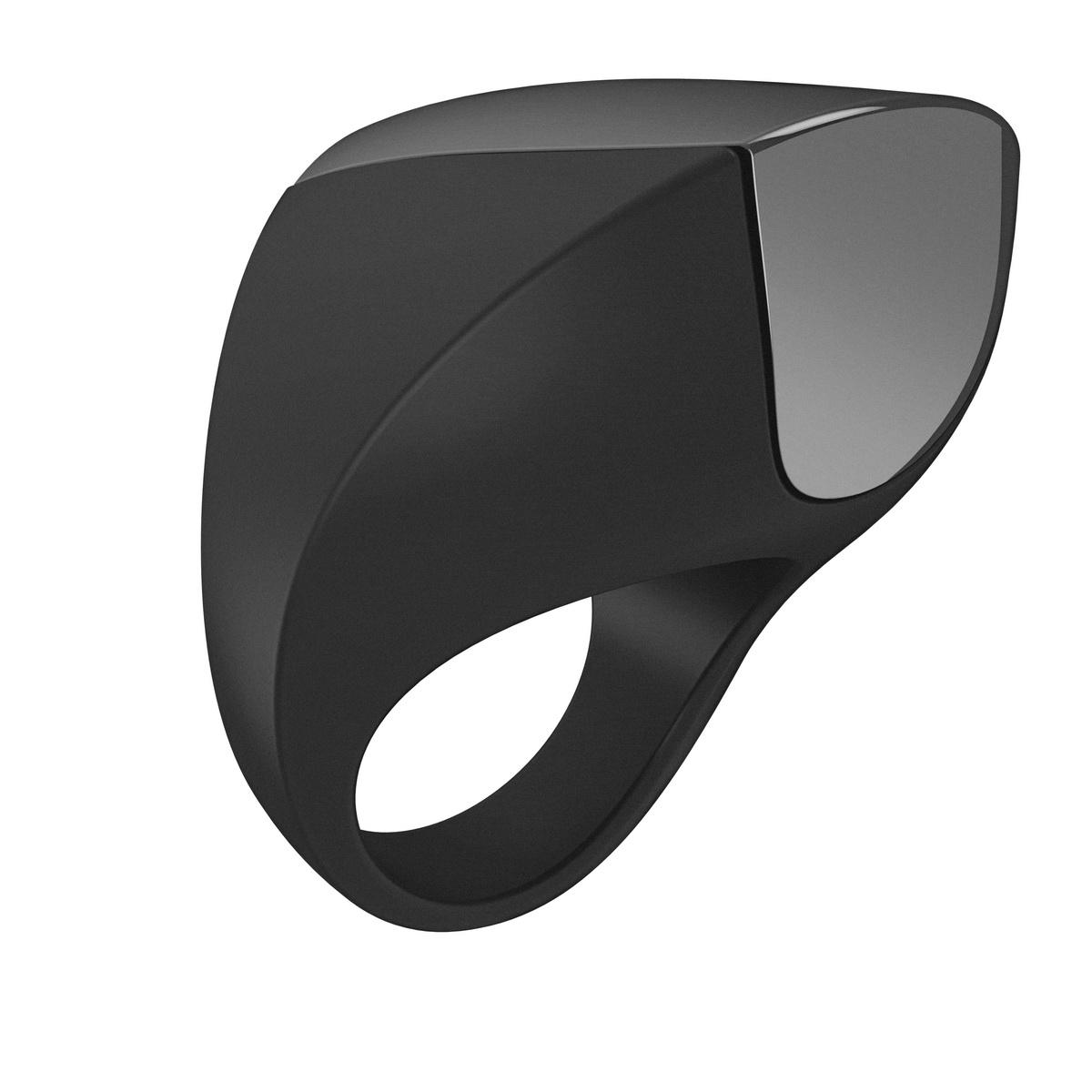 Ovo - A1 dobíjecí erekční kroužek černý - chrom