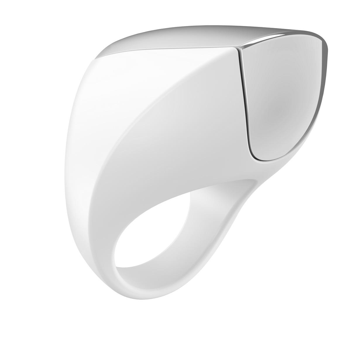 Ovo - A1 dobíjecí erekční kroužek bílý - chrom