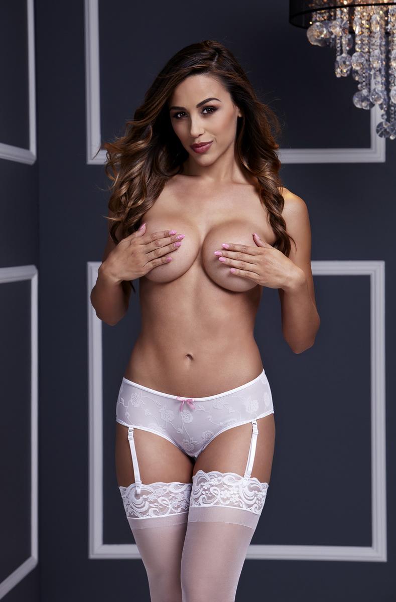 Baci - Bílé kalhotky s otevřeným rozkrokem (velikost S)
