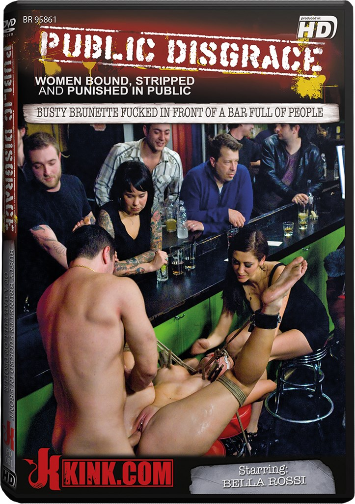 DVD - Busty Brunette Fucked in Front of a Bar Full of People