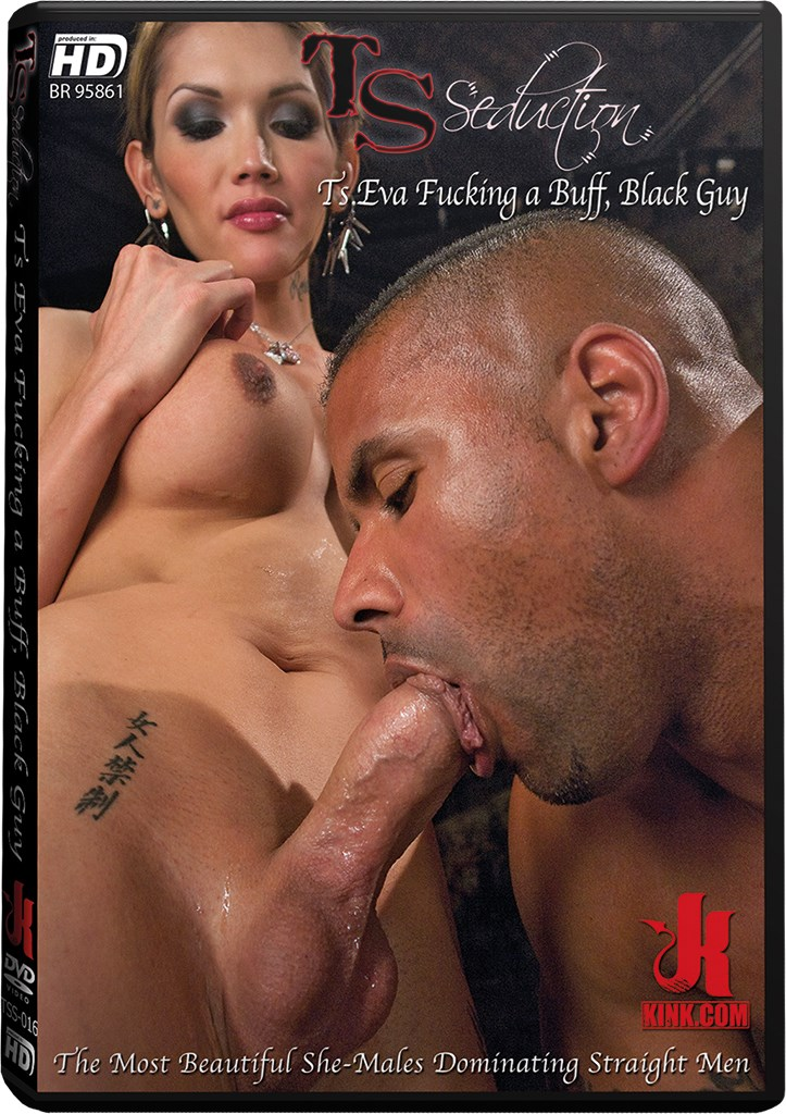 DVD - TS Eva Fucking a Buff, Black Guy