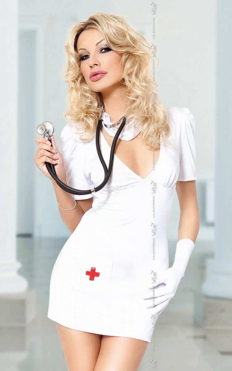 Dámský kostým Softline Doctor bílý (velikost S/M)