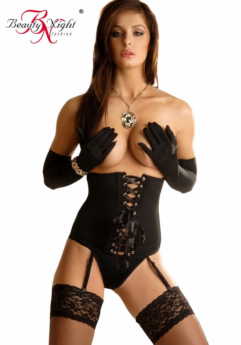 Erotický korzet Carmen černý (velikost S/M)