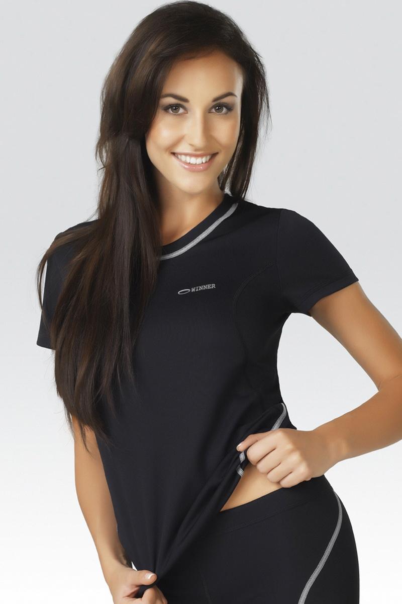 Dámské sportové tričko gWinner Classic IX černé (velikost L)