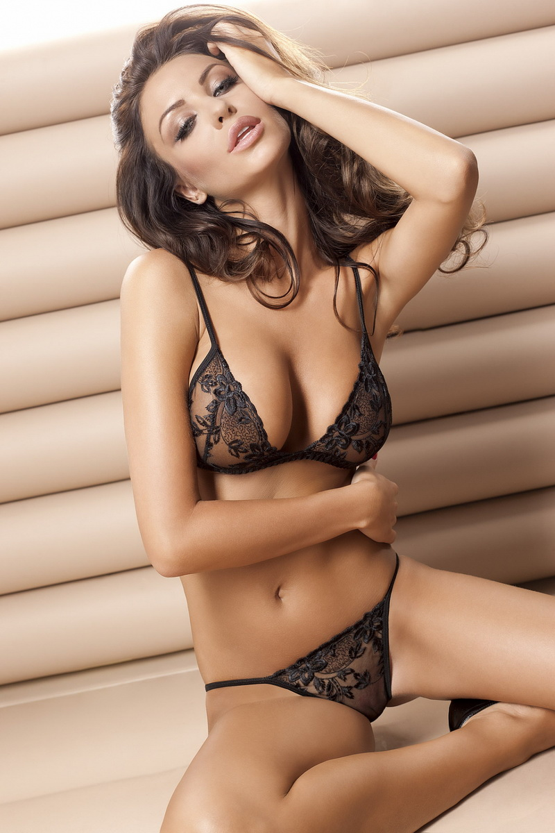 Erotická souprava Anais Donna černá (velikost M)