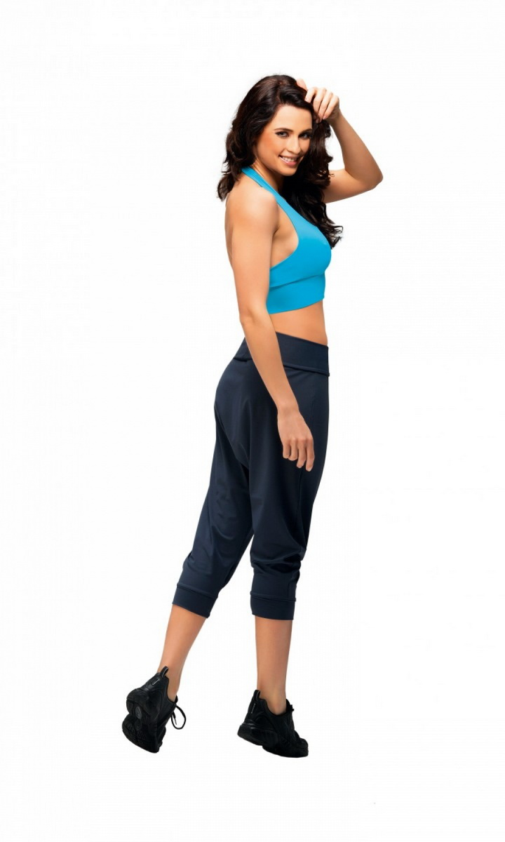 Dámské fitness kalhoty gWinner Creola I černé (velikost L)
