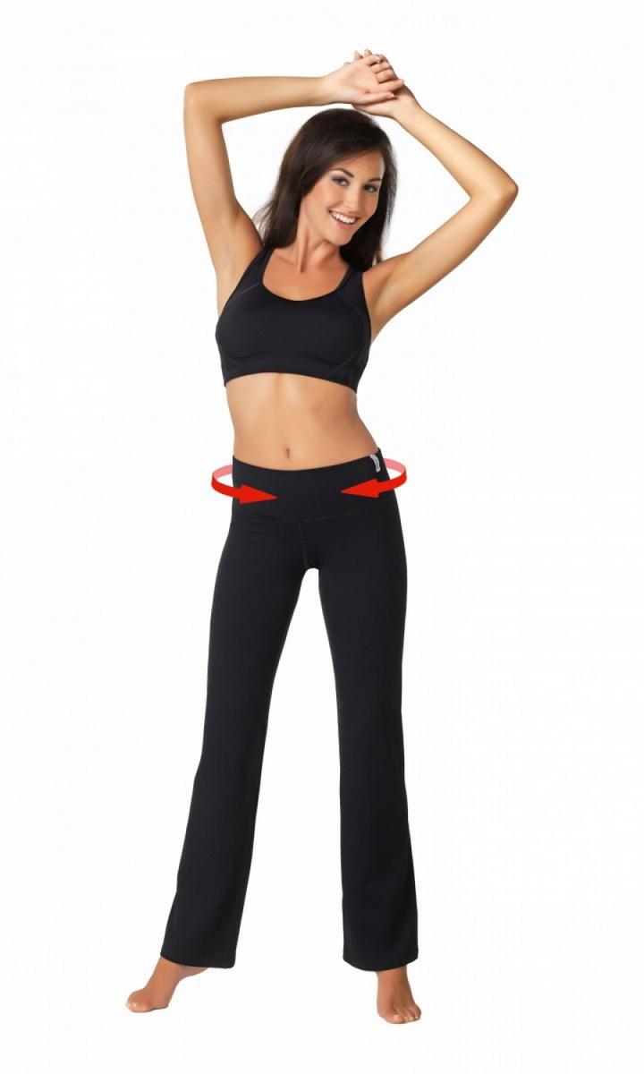 Fitness kalhoty gWinner Slimming černé (velikost L)