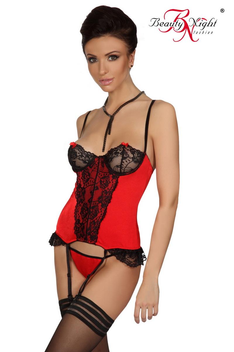 Erotický korzet Shirley červený (velikost S/M)