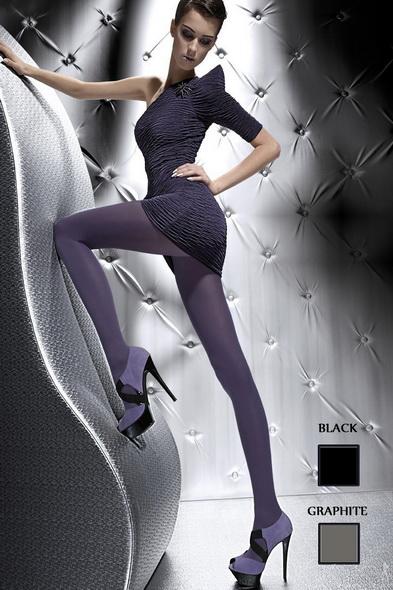 Zimní punčochy Fiore Roza černé (velikost S)